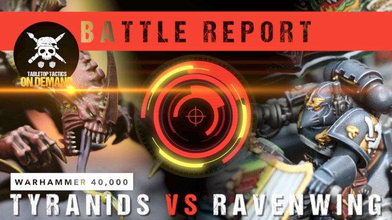 Warhammer 40,000 8th Edition Battle Report: Tyranids vs Ravenwing 2000pts