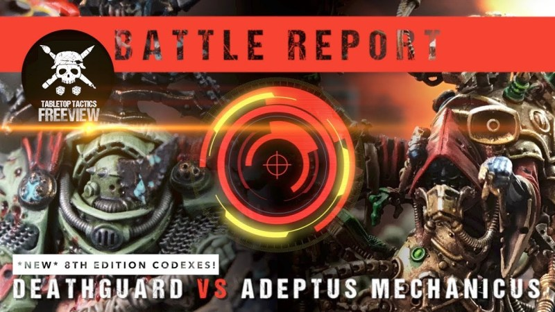 Warhammer 40,000 *NEW CODEXES* Battle Report: Deathguard vs Adeptus Mechanicus 2000pts