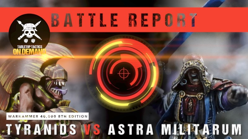 Warhammer 40,000 8th Edition Battle Report: Tyranids vs Astra Militarum 2000pts
