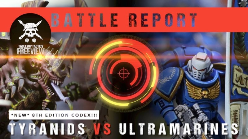Warhammer 40,000 Battle Report: *NEW CODEX* Tyranids vs Ultramarines 2000pts