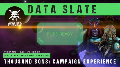 Ghostmaker Data Slate: Thousand Sons Campaign Experience