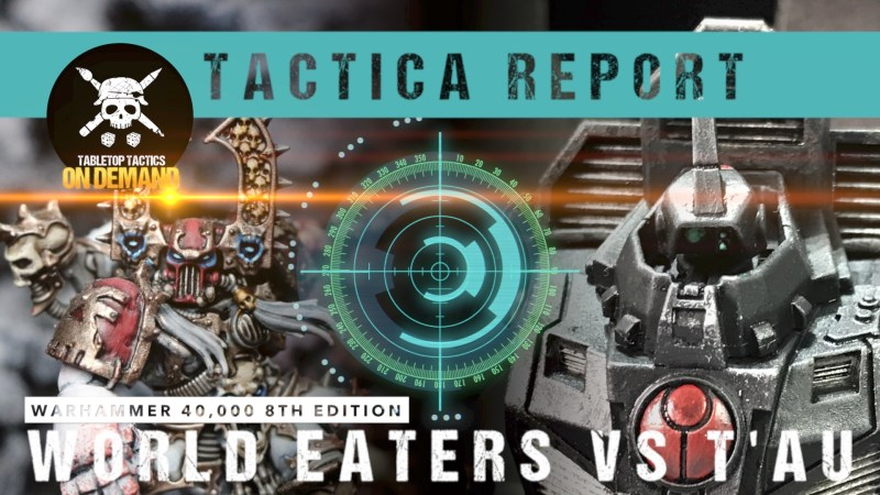 Warhammer 40,000 Tactica Battle Report: World Eaters vs T'au 2000pts