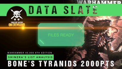 Warhammer 40,000 Data Slate: Shinzra's List Analysis – Bone's Tyranids 2000pts