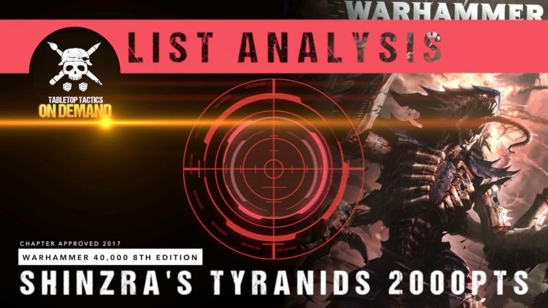 Warhammer 40,000 8th Edition List Analysis: Shinzra's Tyranids 2000pts