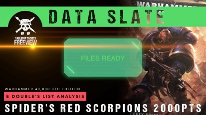 Warhammer 40,000 Data Slate: E Double's List Analysis – Spider's Red Scorpions 2000pts