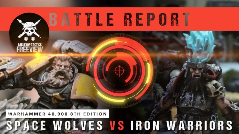 Warhammer 40,000 8th Edition Battle Report: Space Wolves vs Iron Warriors 1750pts