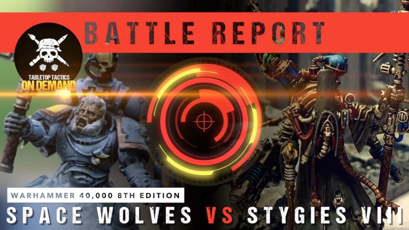 Warhammer 40,000 Battle Report: Space Wolves vs Adeptus Mechanicus 2000pts