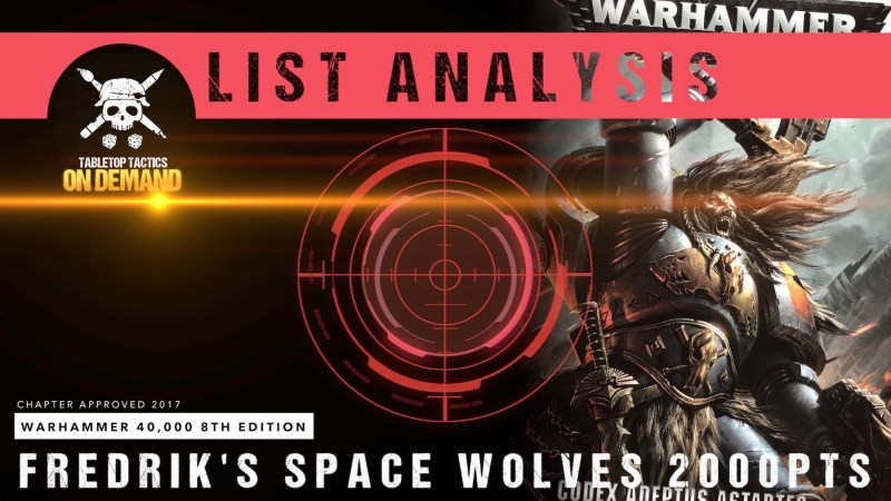 Warhammer 40,000 List Analysis: Fredrik's Space Wolves 2000pts