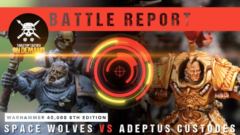 Warhammer 40,000 Battle Report: Space Wolves vs Adeptus Custodes 2000pts