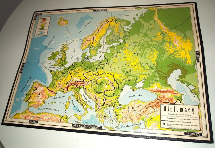 Investing in Board Games - Vintage Diplomacy map