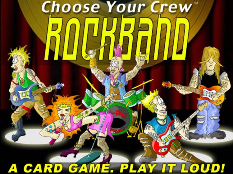 Worst Board Game Box Art Ever - Choose Your Crew Rockband