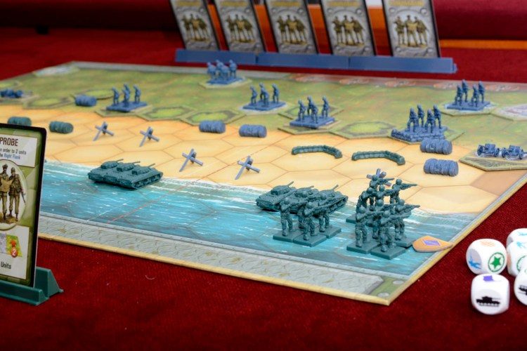Tabletop D-Day - Memoir '44 Set Up