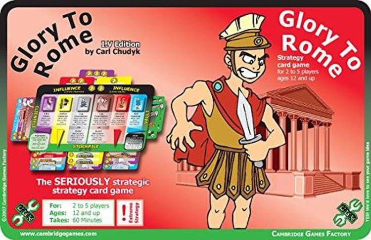 Worst Board Game Box Art Ever - Glory To Rome