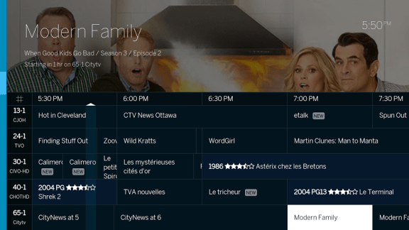 Tablo Android TV grid guide