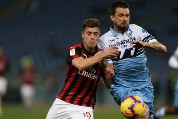 Semifinale Coppa Italia Lazio-Milan Piatek Acerbi