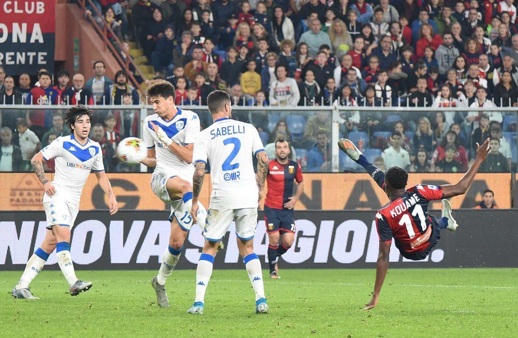 Kouamé kick vs Brescia