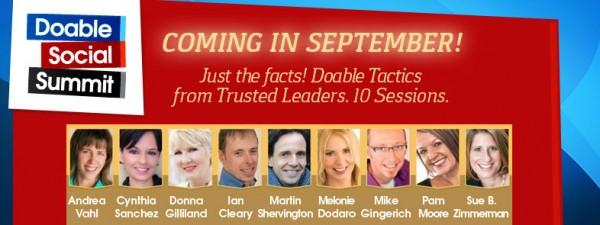 Doable Social Summit Online Event Dates: September 15-26, 2014