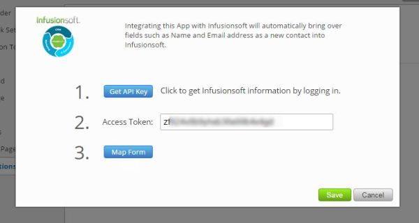 Infusionsoft integration in TabSite