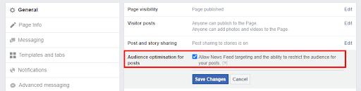 Target organic posts on facebook