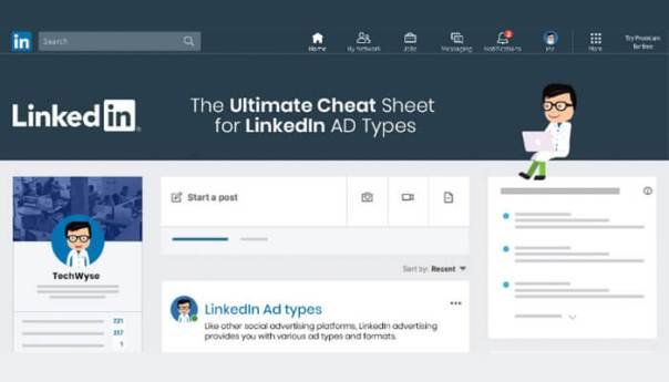 Infographic-The Ultimate Cheat Sheet for LinkedIn Ad Types.