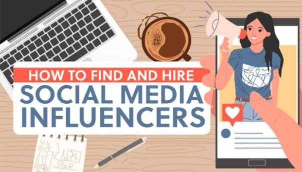 Illustration of social media influencers.