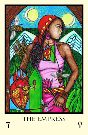 Empress Tabula Mundi Tarot color version