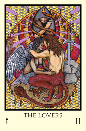 Lovers Tabula Mundi Tarot color version