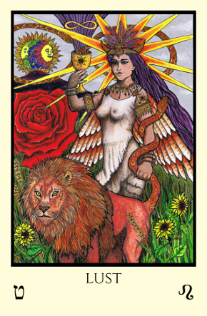 Lust Tabula Mundi Tarot color version