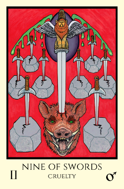 Image result for 9 of swords tarot tabula mundi