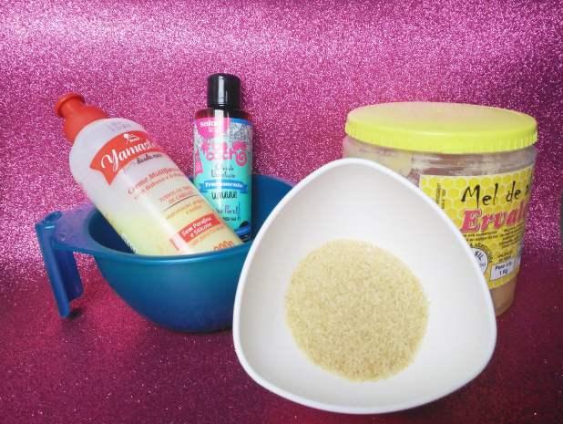 Ingredientes da Hidratação Caseira com Açúcar