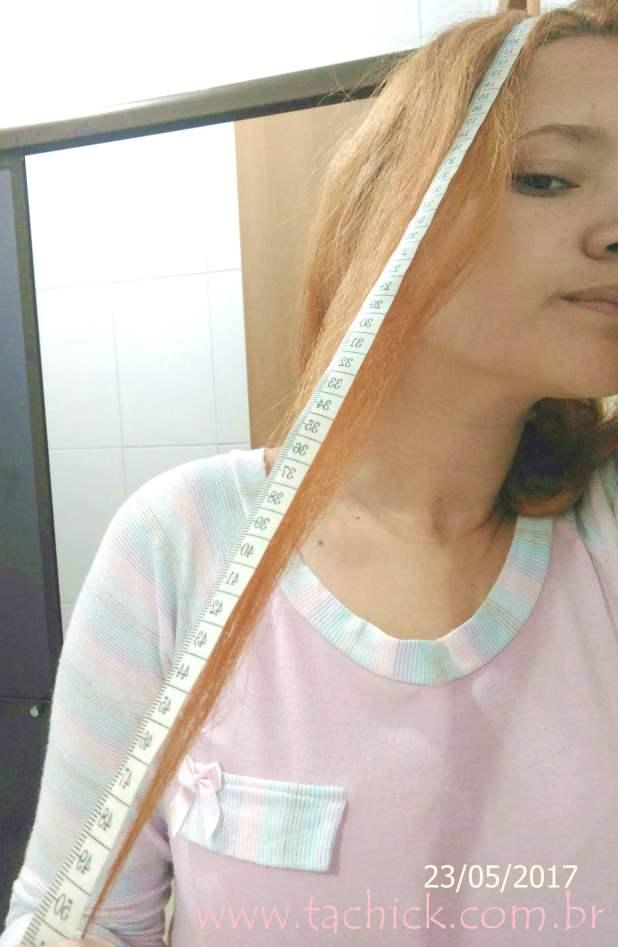 Medindo o cabelo projeto rapunzel tachick