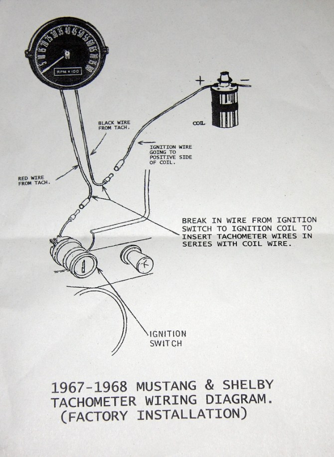 1968 mustang tach wiring diagram  wiring diagrams database