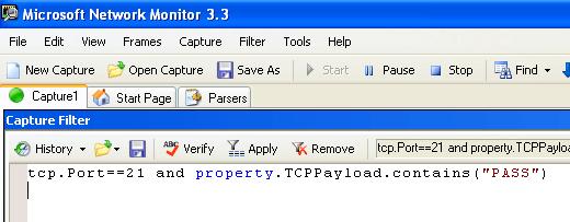 Netmon FTP Password Capture