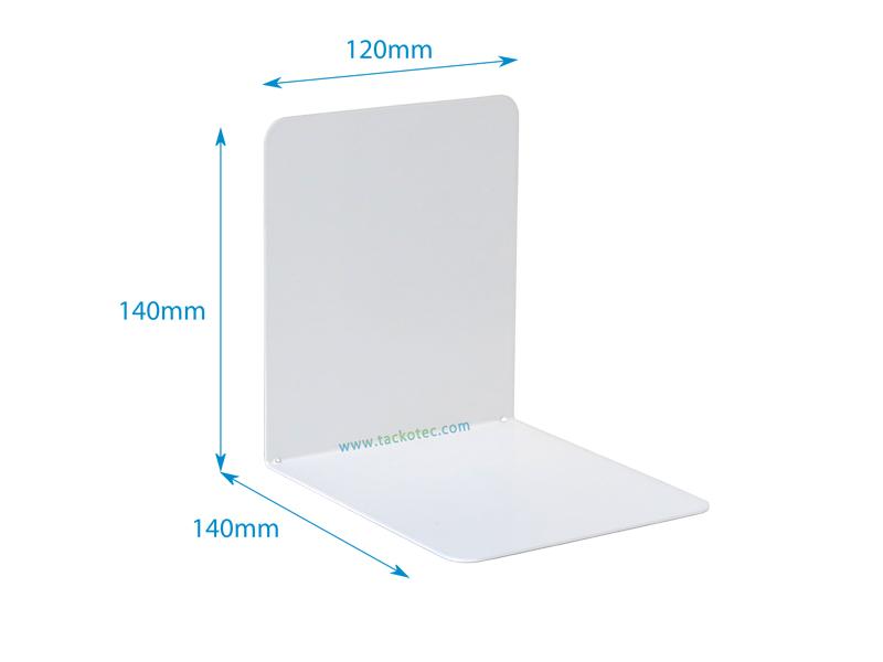 serre livres equerre simple blanc metal 120 x 140 x 140 mm livre sans pastilles antiderapantes vendues separement voir reference pastag09