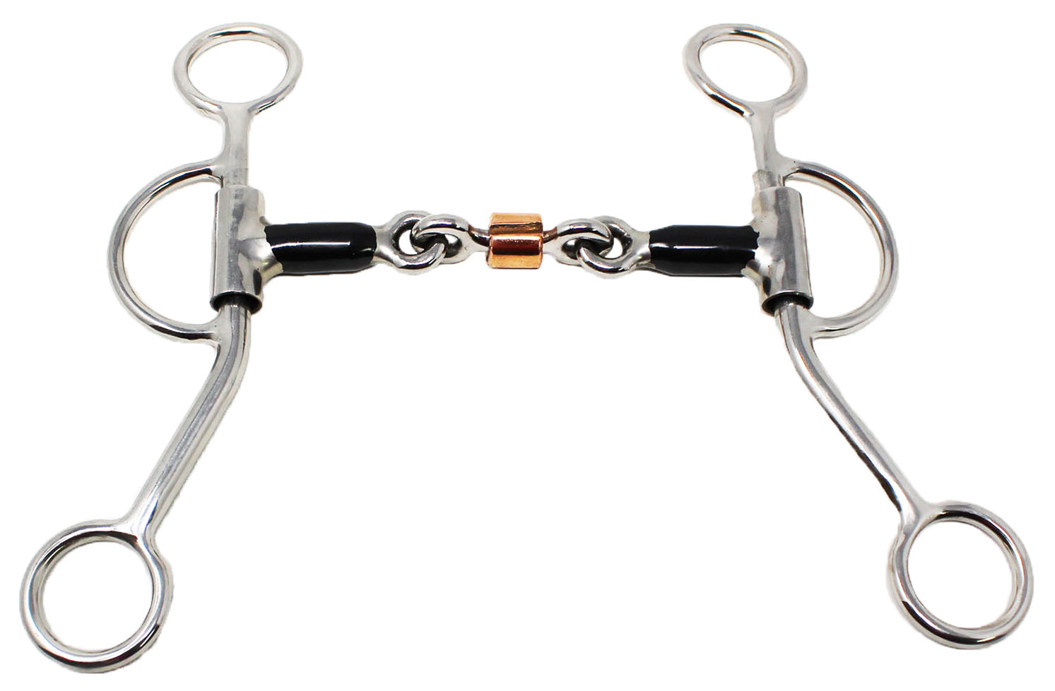 Horse Sweet Iron Mouth Dog Bone Snaffle Bit W Roller