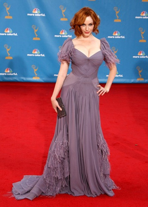 #5647908 2010 Primetime Emmy Awards Arrivals held at The Nokia Theatre L.A. Live in Los Angeles, California on August 29th, 2010. Christina Hendricks                                                                                        Fame Pictures, Inc - Santa Monica, CA, USA - +1 (310) 395-0500
