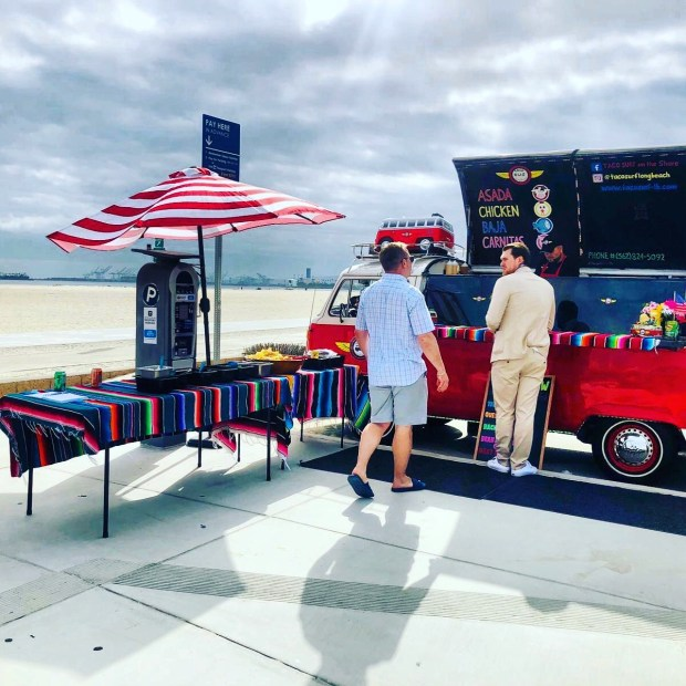 Taco Bus Event at the beach