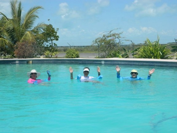 water exercise firness class in belize