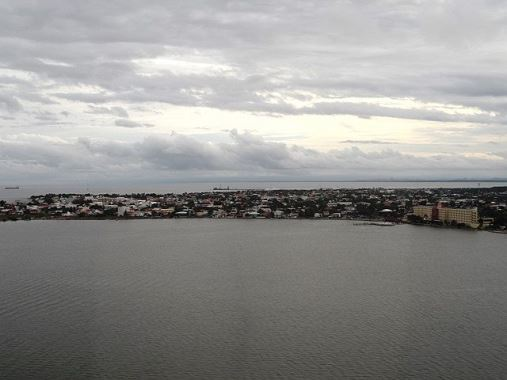 belize city aerial picture