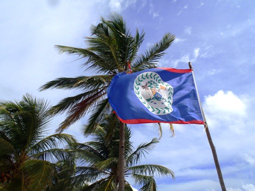 belize flag picture