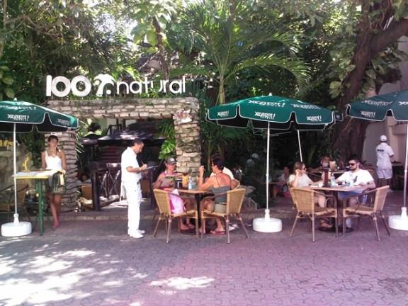 100% natral restaurant playa del carmen