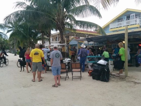 yancey de veer at wayos beach bar belize