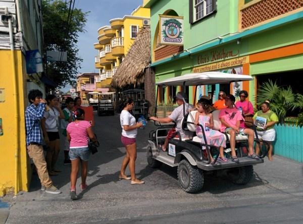 street volunteers helping a reef radio belize telethon