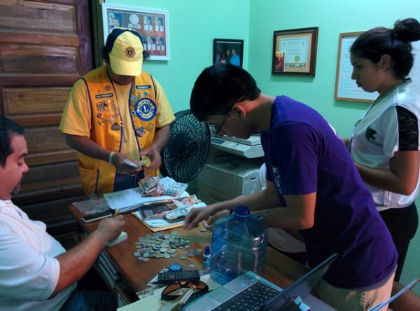 san pedro lions club and san pedro belize red cross