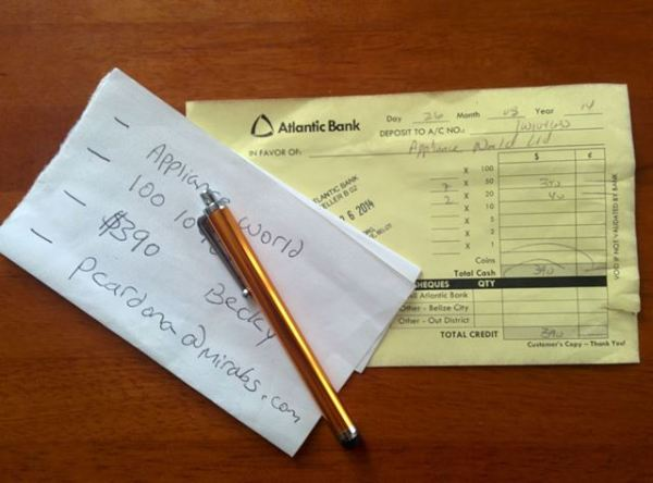 atlantic bank belize deposit slip