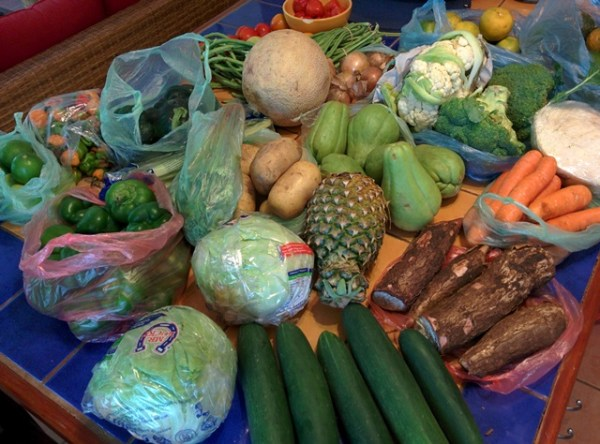 fruits and vegetables in belize