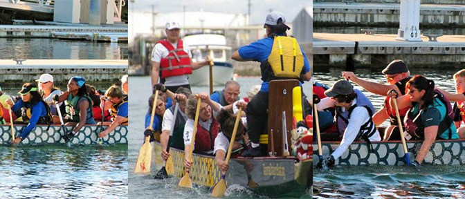 Photo of dragon boat practices