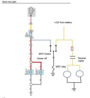 Reverse Lights  Aux light wiring help  TTORA Forum