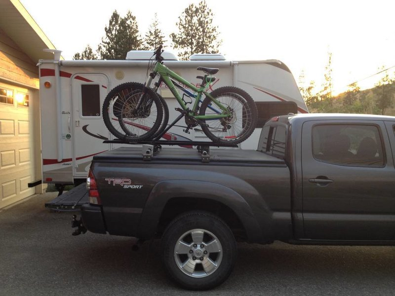truck bed cover with bike rack