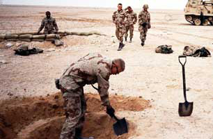 Image result for digging a foxhole